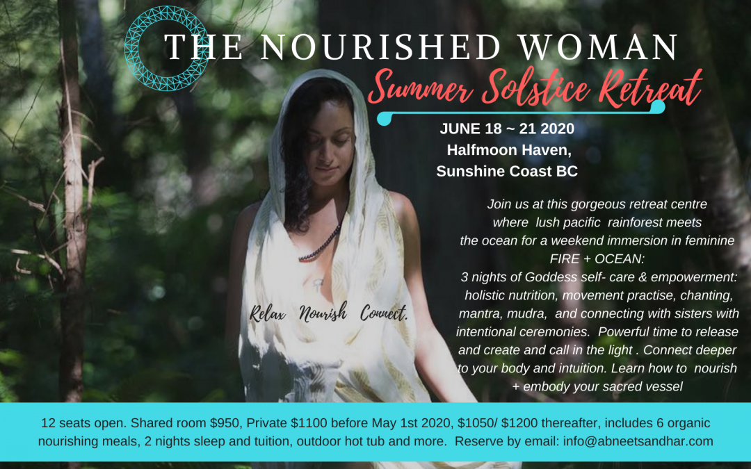 The Nourished Woman Retreat Summer Solstice June 2020