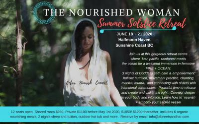 The Nourished Woman Retreat Summer Solstice June 2020